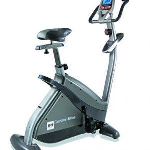 BH Fitness Carbon Bike H8702R bicicleta estática. Volante de inercia 14kg. Freno magnético. Monitor LCD. Estructura reforzada. Ruedas de transporte.