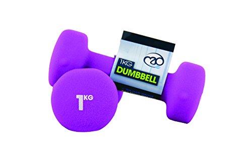 Fitness Mad Neo - Mancuernas (2 unidades), color púrpura  - 1kg