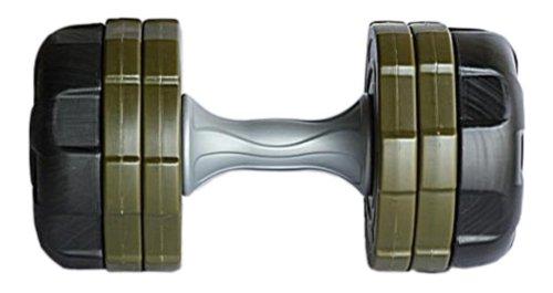 Ultrasport - Juego de mancuernas antideslizantes de 20 kg (sistema de seguridad con diseño anguloso)