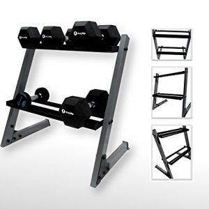 BodyRip-Mancuerna de sillín de dos niveles rack Soporte de peso para