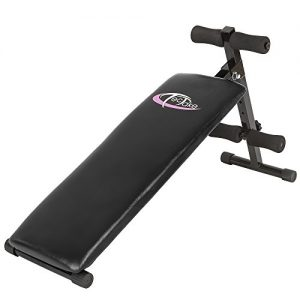 TecTake Banco de musculación 120 cm x 33 cm x 63 cm banco de pesas ejercicio abdominales plegable