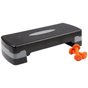 Ultrasport - Conjunto de step y pesas para fitness