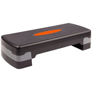Ultrasport 331100000013 - Step de aerobic, color negro/naranja