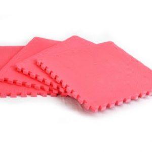 FA Sports 617 Protectfloor - Alfombrilla protectora para suelo (4 unidades, 60 x 60 x 2 cm), color rosa
