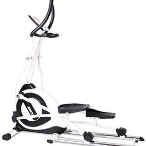 SportPlus SP-ET-7000-iE Bicicleta Elíptica con Aplicación para Smartphone, 24 Niveles de Resistencia, Sensores de Pulso Manual, Adultos Unisex, 165 x 63 x 178 cm
